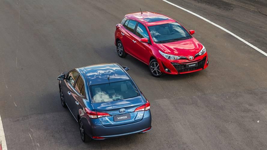 Vendas no varejo em novembro: Toyota emplaca Yaris hatch e sedã no top 20