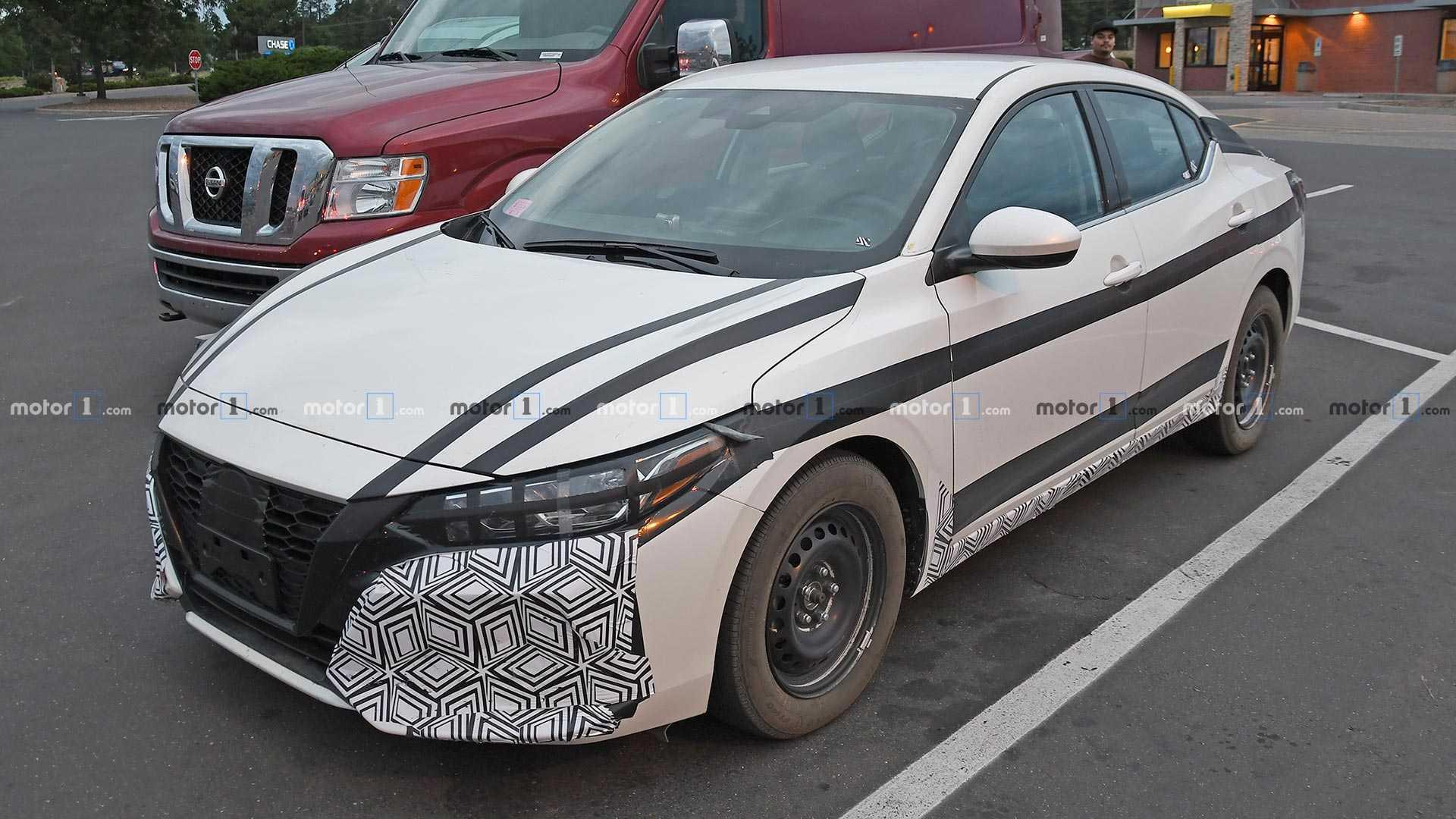 2020 - [Nissan] Sentra / Sylphy 2021-nissan-sentra-spy-shots
