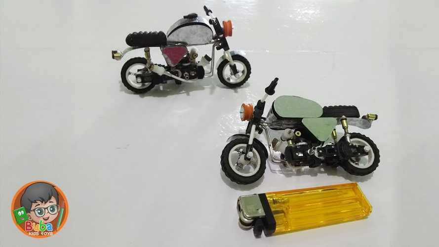 DIY: How To Build A Tiny Motorcycle With A Lighter