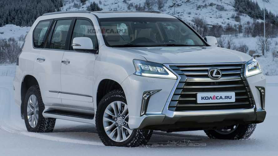 Lexus GX Refresh Rendered Showing A Sharper Face