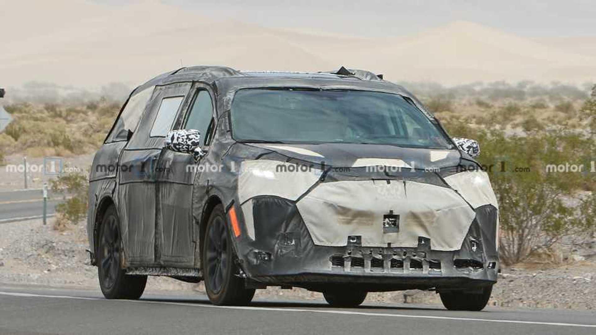 รูปถ่ายของ Toyota Sienna Spy