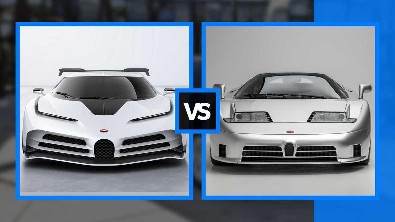Bugatti, Centodieci vs EB110