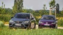 Vergleichstest Cupra Ateca gegen Volkswagen Golf R