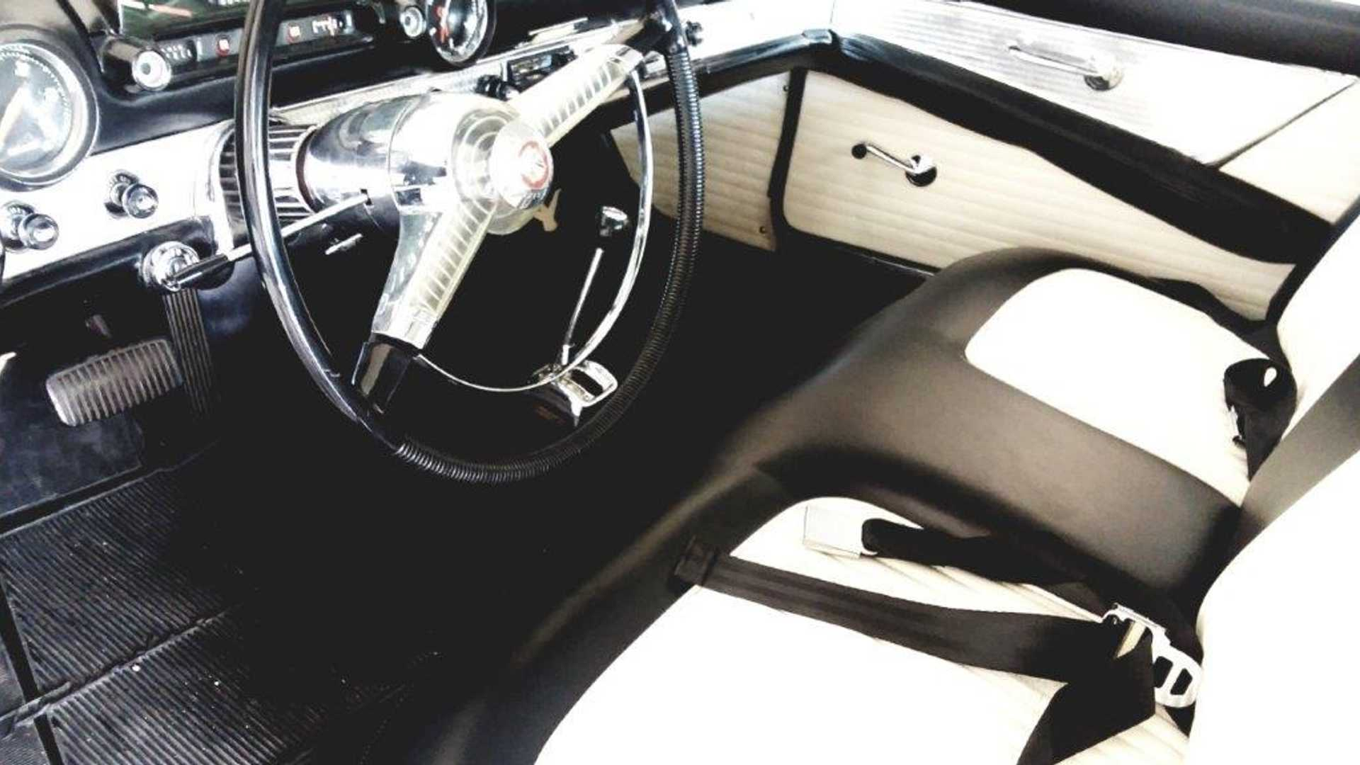 """[""""Raven Black 1955 Ford Thunderbird Convertible Is Perfectly Pristine""""]"""