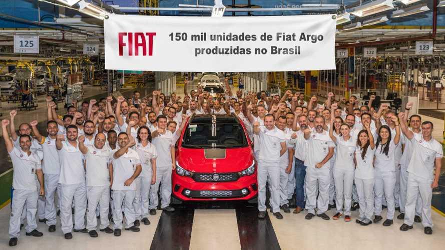 Fiat Argo alcança 150 mil unidades produzidas no Brasil