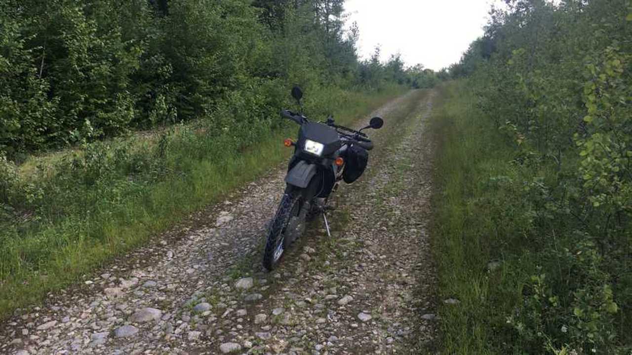 Kawasaki KLR 650 On Rocky Trail