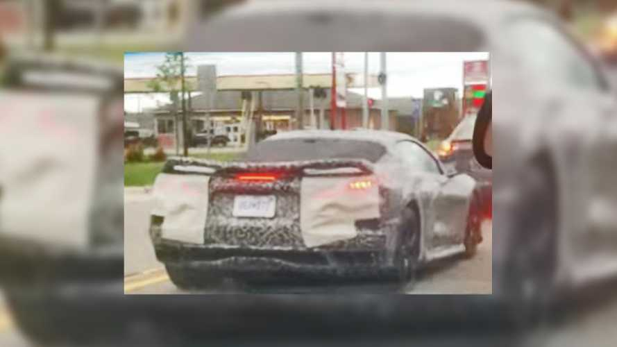Mid-Engined Chevrolet Corvette Prototype Caught Up Close On Video