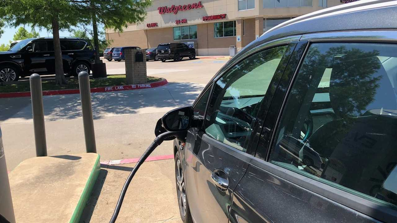 Topping Off At An EVgo station on the outskirts of DFW