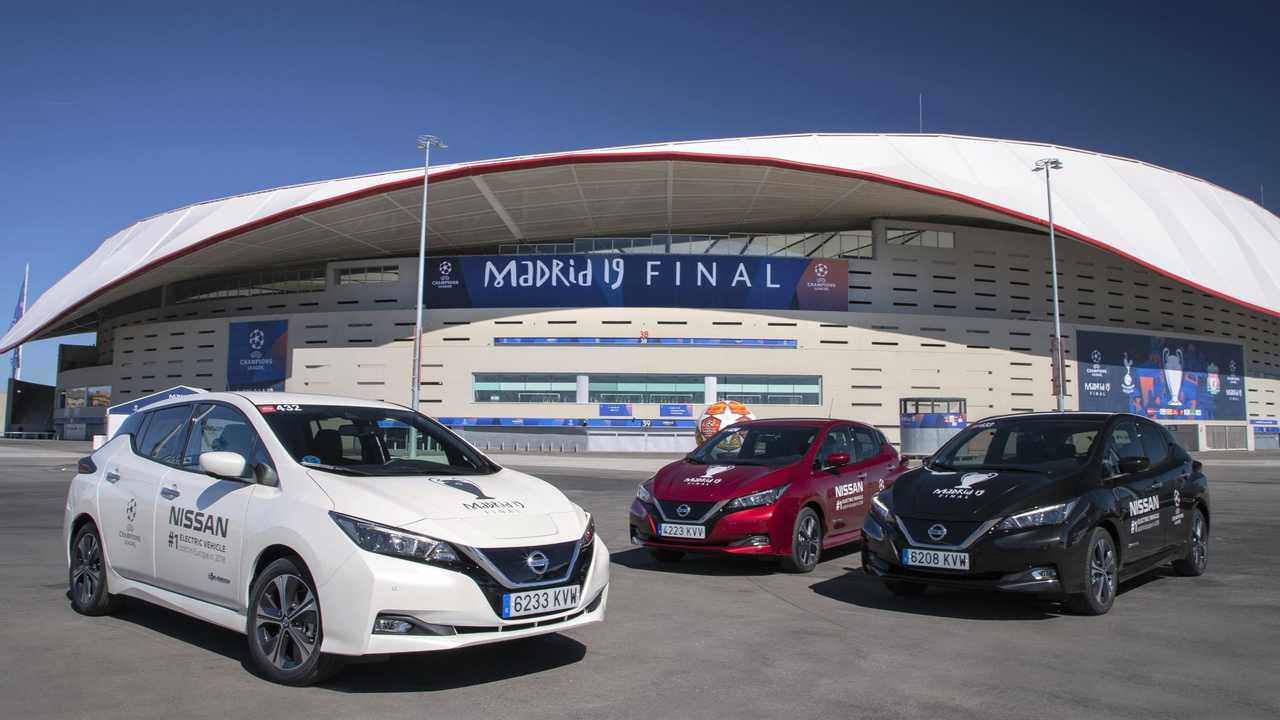 Nissan LEAFs at the UEFA Champions League Final