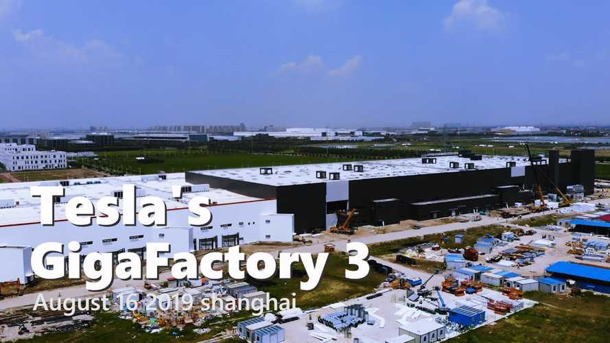 Tesla Gigafactory 3 Construction Progress August 15, 2019: Video