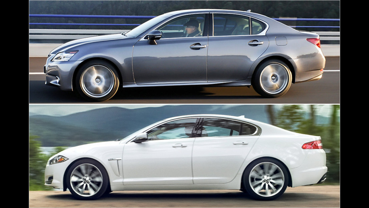 Lexus GS und Jaguar XF