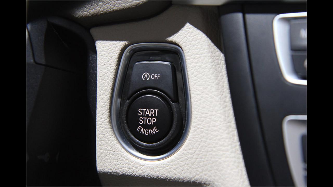 Start-Stopp-Motorknopf