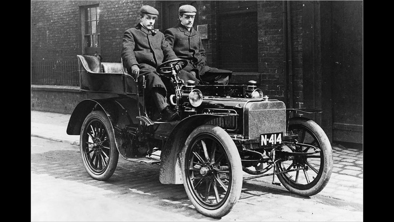 1904: Erster Rolls-Royce-Wagen
