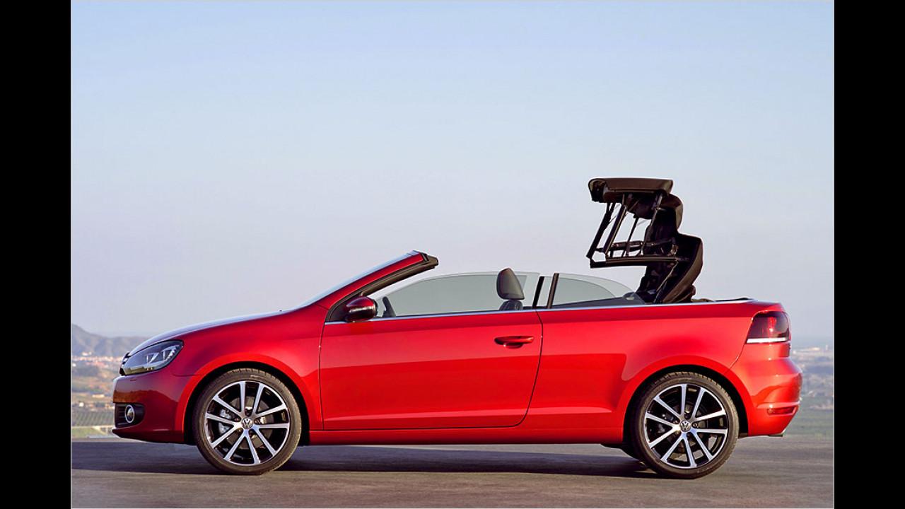 Golf Cabrio (9 Sekunden, bis 30 km/h)