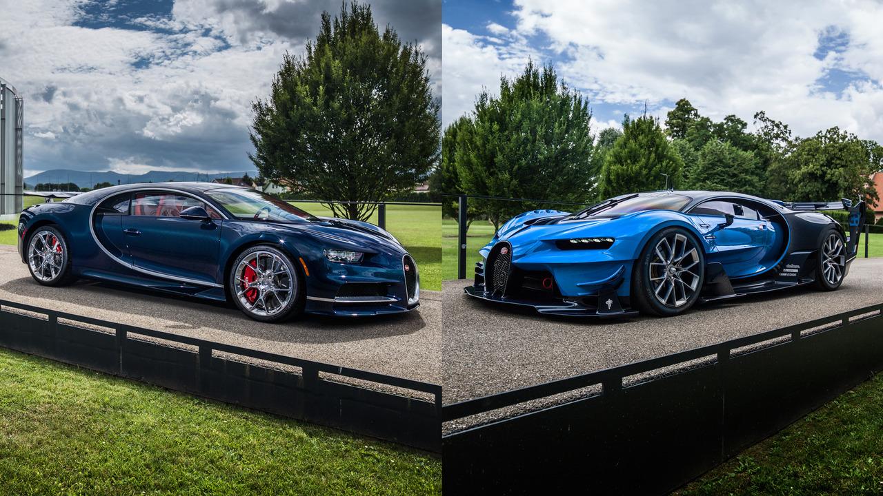 Bugatti Chiron and Vision GT