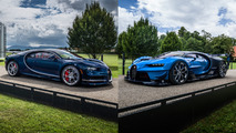 Bugatti Chiron and Vision GT