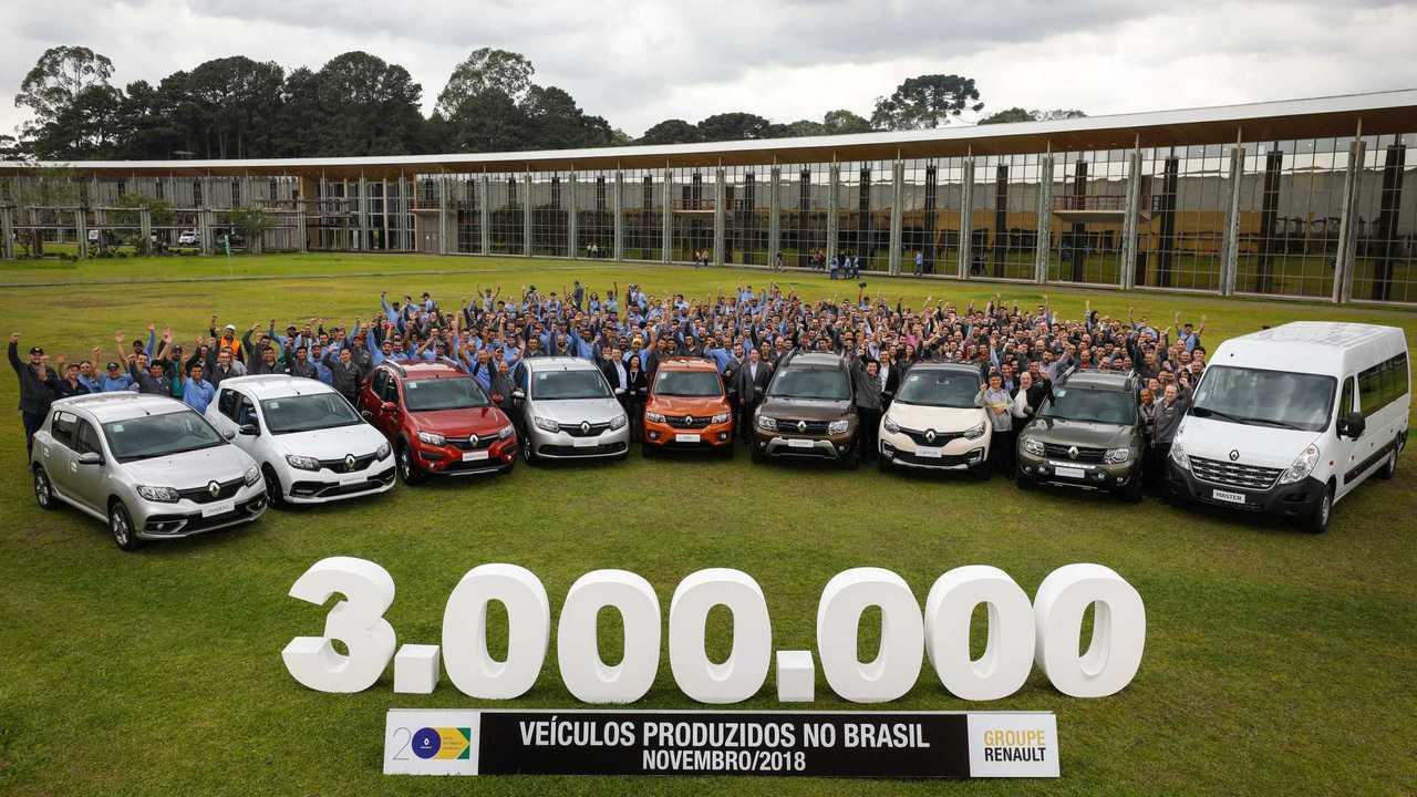 Renault 3 milhões de veículos