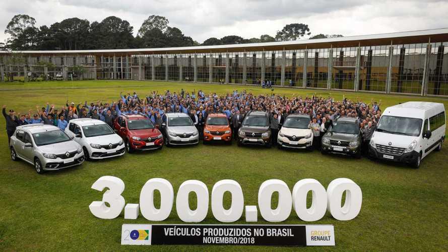 Renault comemora produção de 3 milhões de veículos no Brasil