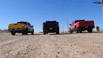 World's Slowest Drag Race: GMC Sierra vs Nissan Titan vs Ram Rebel