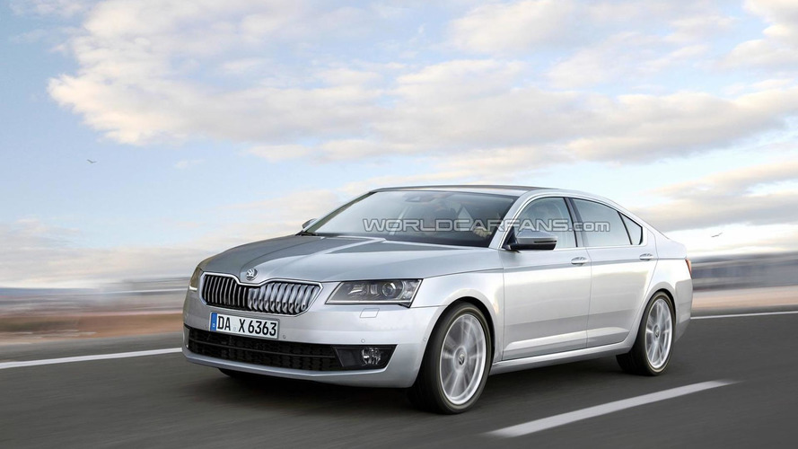 2015 Skoda Superb render previews the real deal