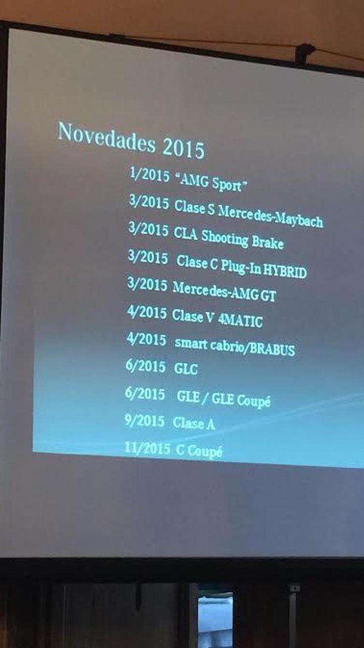 Mercedes-Benz 2015 model rollout