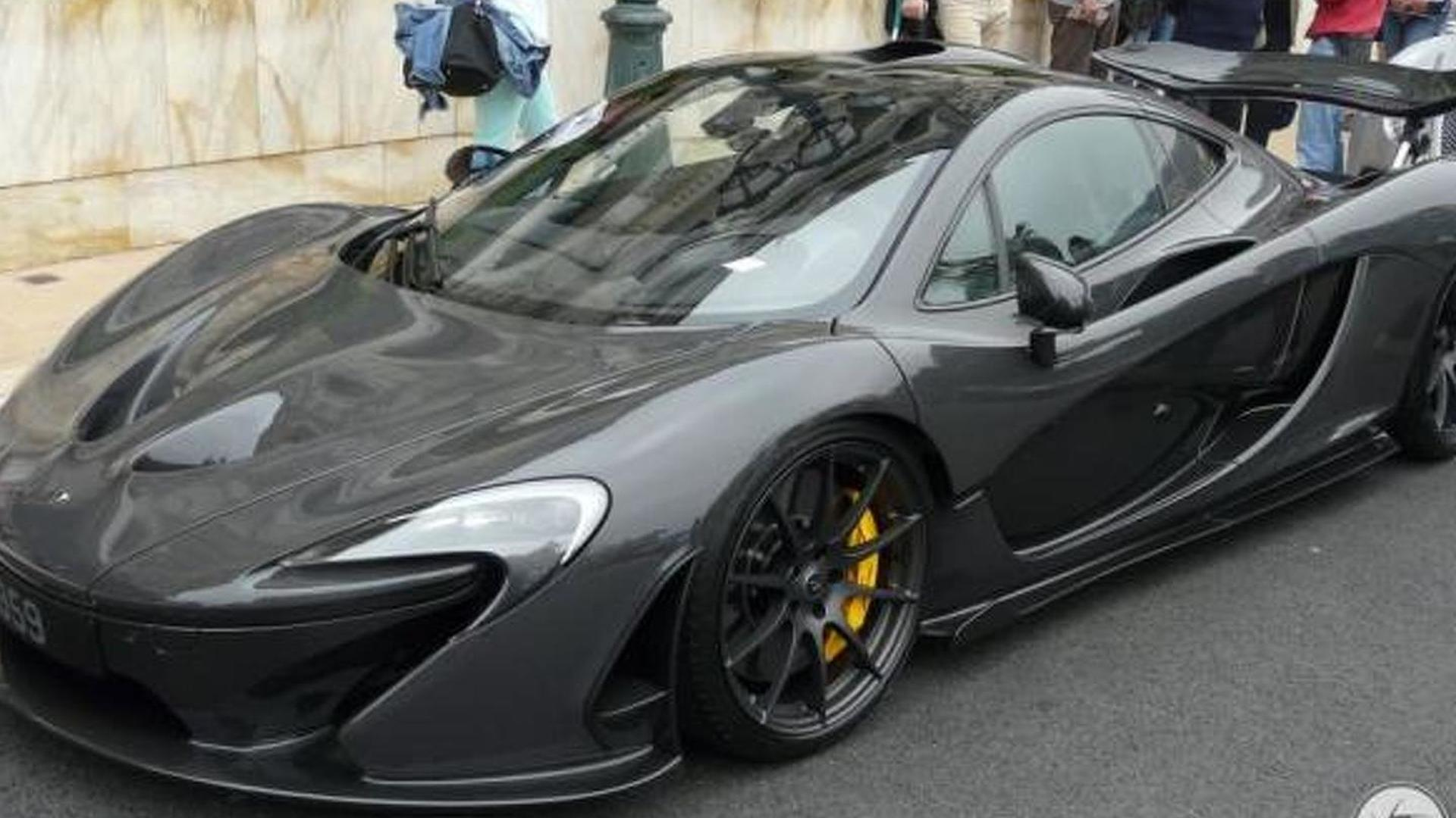 jenson button's mclaren p1 spotted in monaco