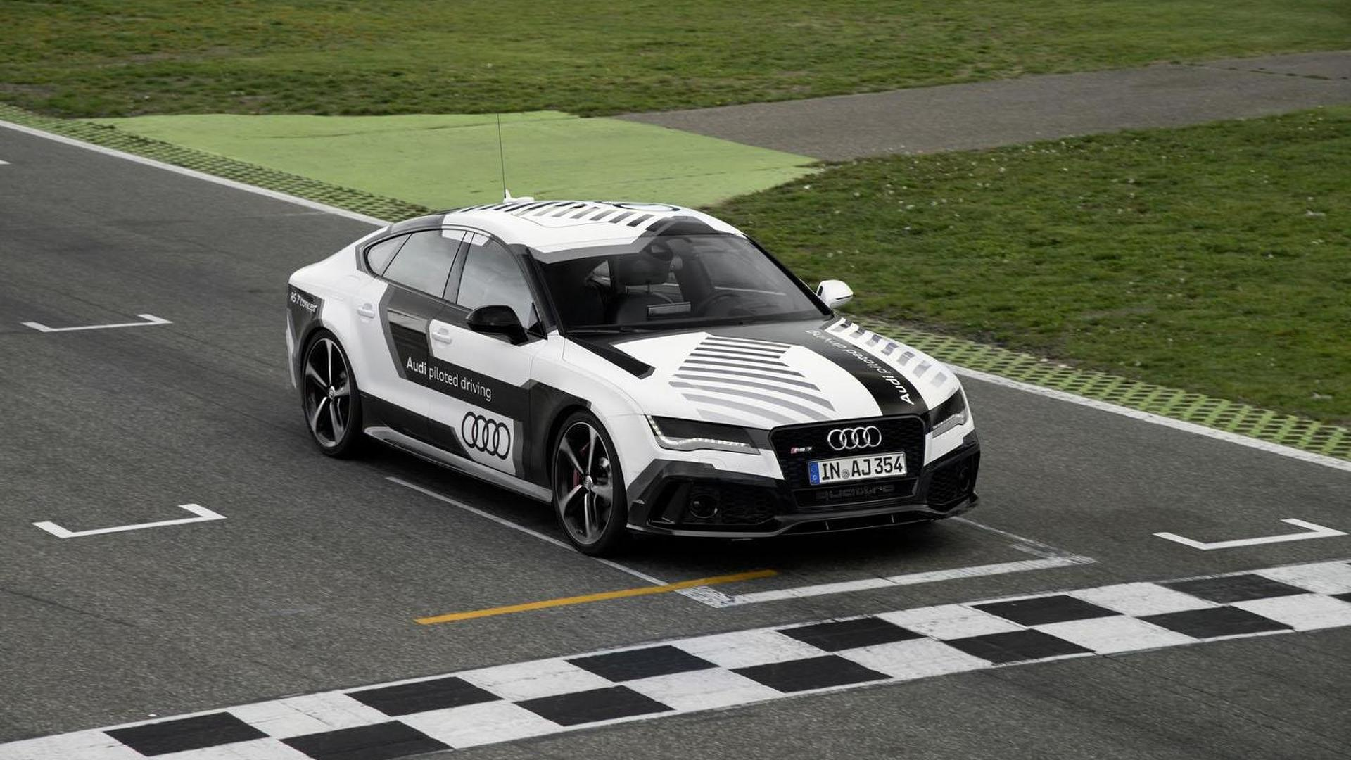 Audi Piloted Driving >> Audi Rs7 Piloted Driving Concept Demonstrated At Hockenheim Video