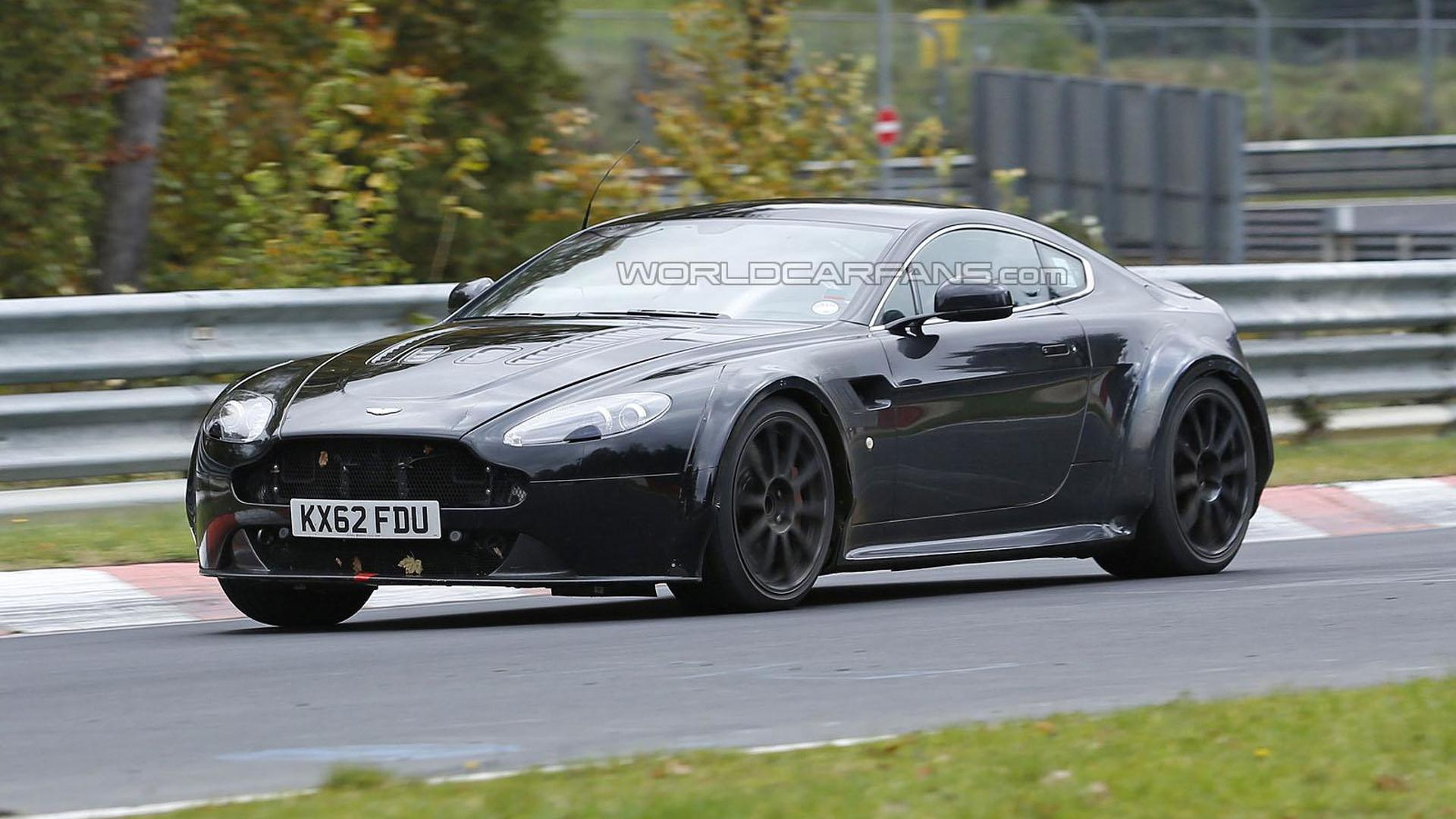 Mysterious Aston Martin Vantage Prototype Spied Is It A Mule For The Next Generation Model
