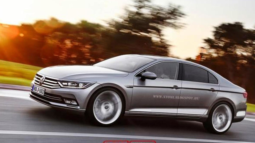 Next-generation Volkswagen Passat CC gets rendered