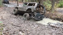 Jeep Splits While Off-Roading