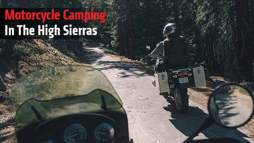 Motorcycle Camping In The High Sierras