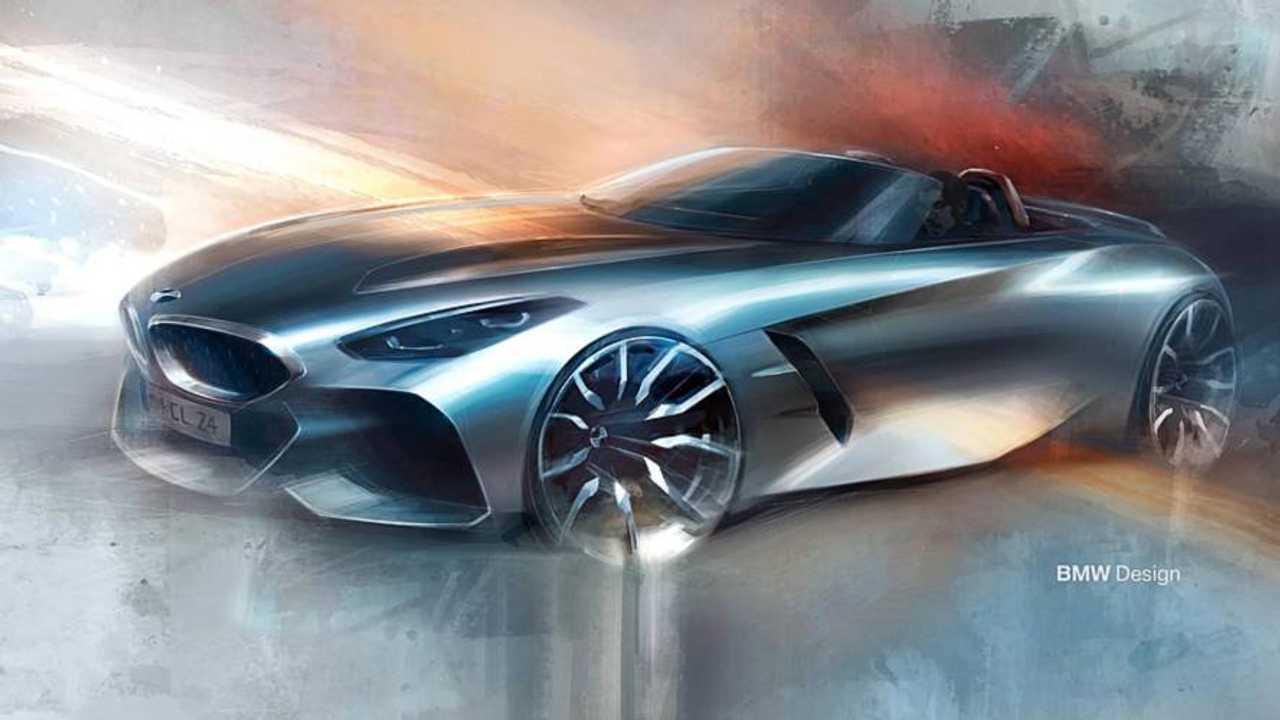 BMW Z4 First Edition'ın Teaser Olarak Yayınlanan Eskiz Çizimleri