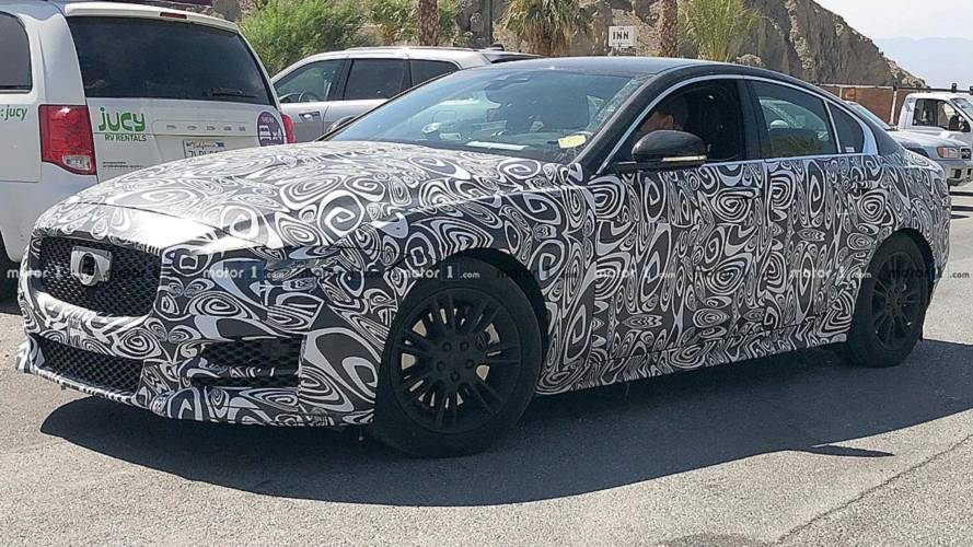Updated Jaguar XE spied testing under heavy camouflage