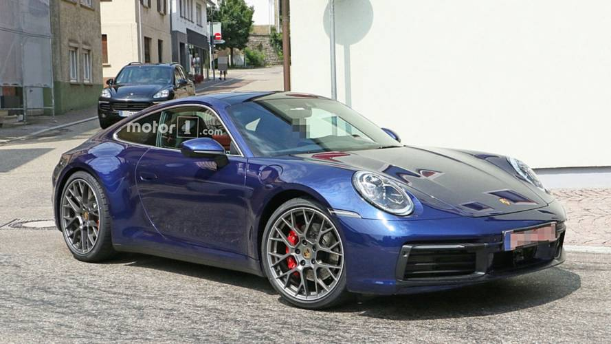 2019 Porsche 911 Caught Uncovered And Looking Beautiful In Blue