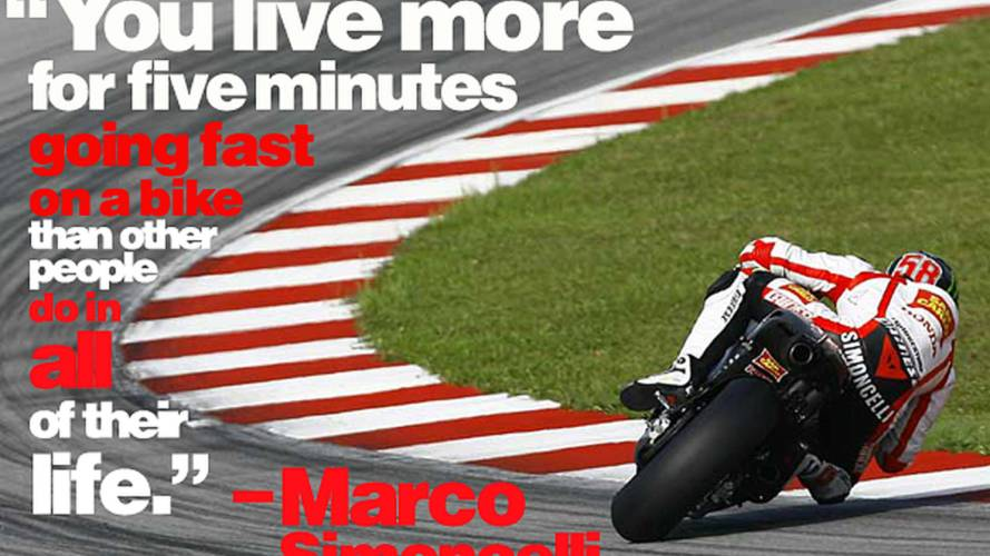 Marco Simoncelli on the meaning of life