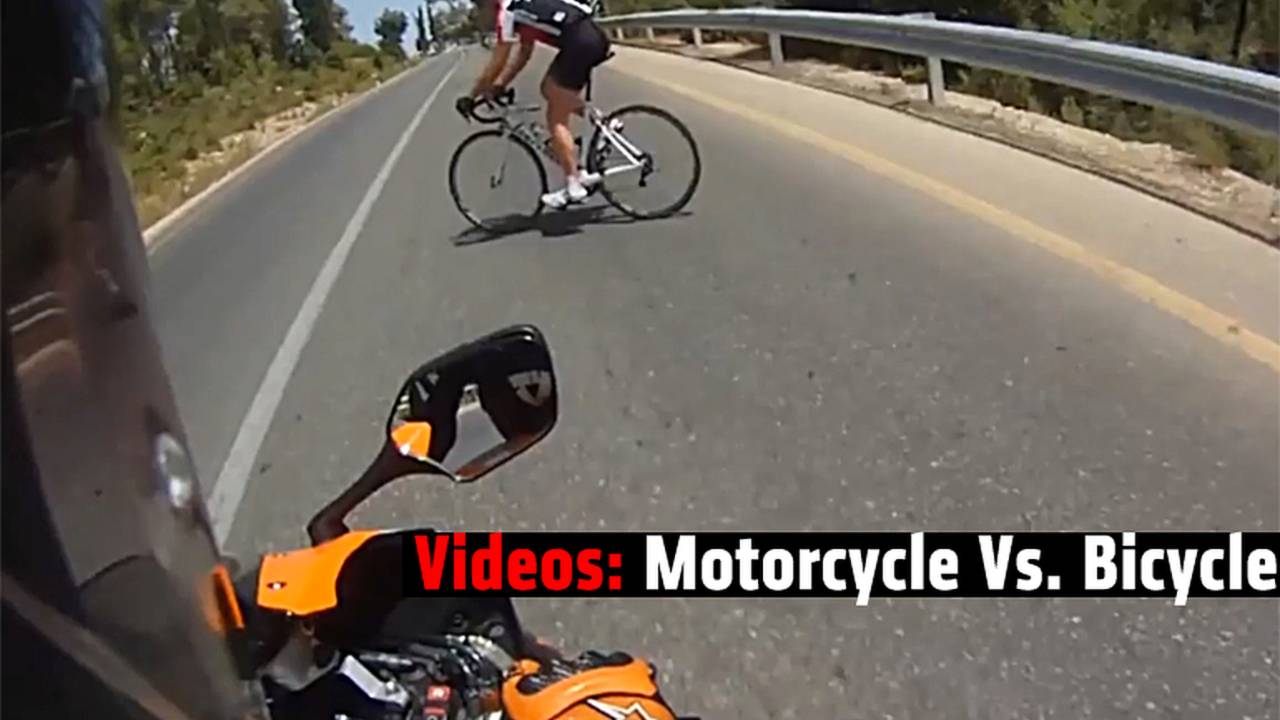Video: Motorcycles Vs. Bicycles