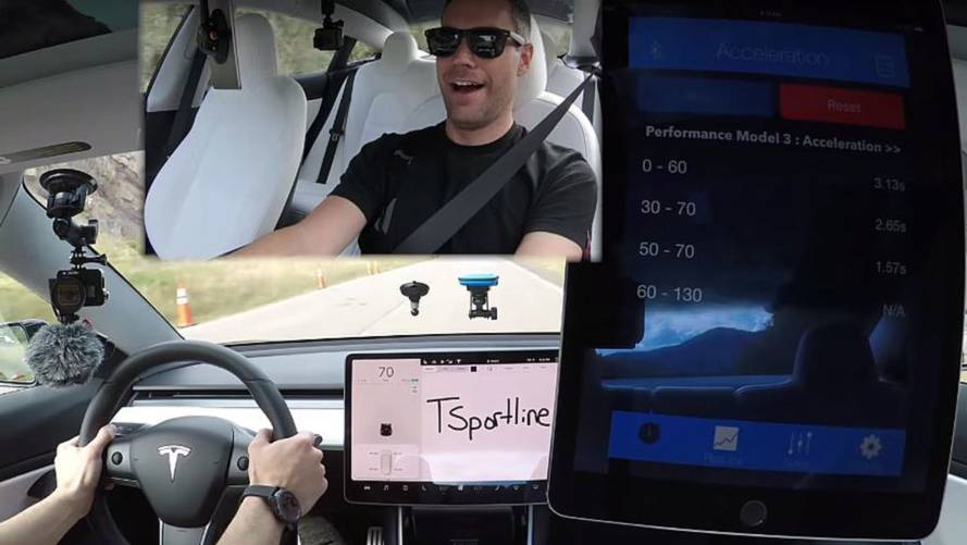 Tesla Model 3 Performance Hits 60 MPH In Blistering 3.13 Seconds