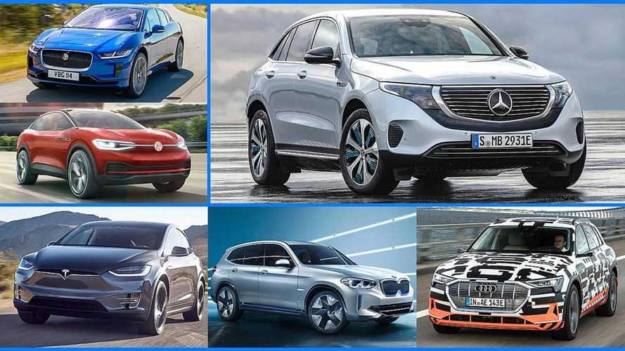 DIAPORAMA - Le Mercedes EQC face à ses rivaux
