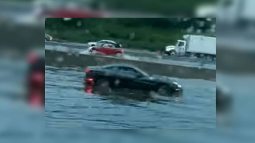 Video Of Stranded Ferrari Proves Prancing Horses Can't Swim