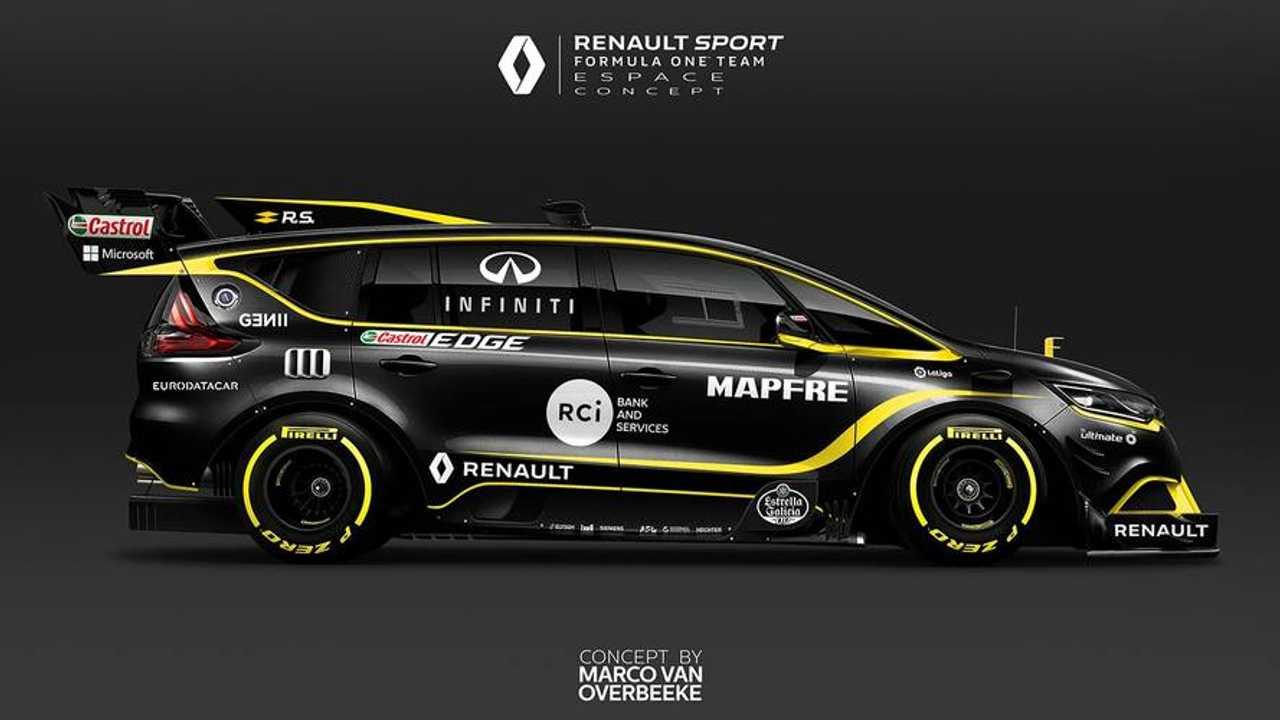 Renault Espace F1 renderkép