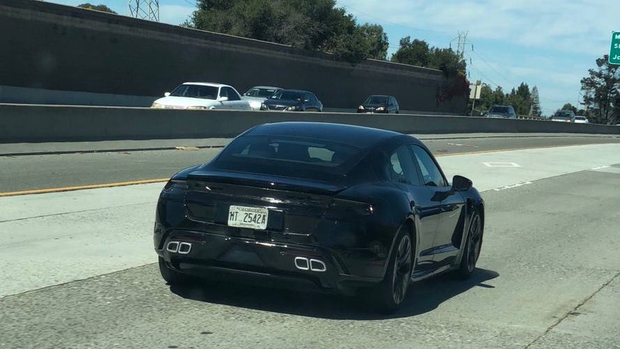 Porsche Taycan Mule Spotted With New Updates In U.S.