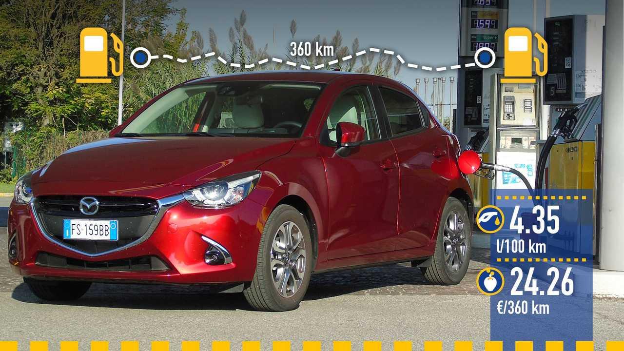 Mazda2 Skyactiv-G, la prova consumi