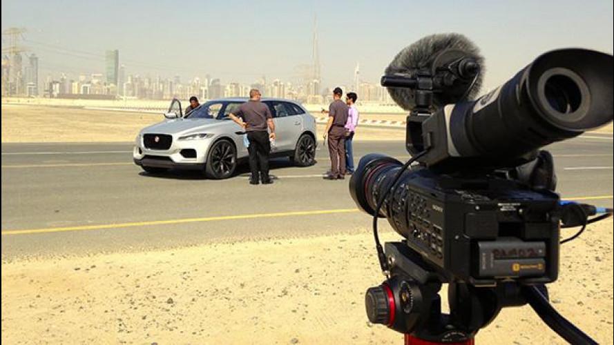 Jaguar C-X17, dietro le quinte della nostra prova su strada [VIDEO]
