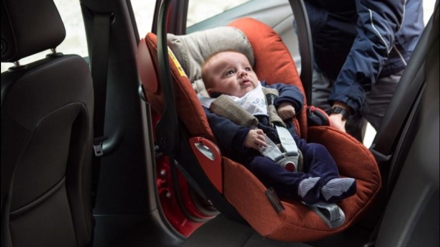 Bambini in auto, 6 italiani su 10 li trasportano male