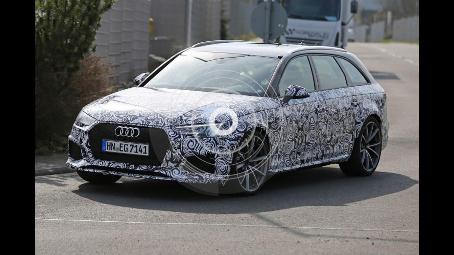 Nuova Audi RS 4 Avant, prime immagini della sportiva