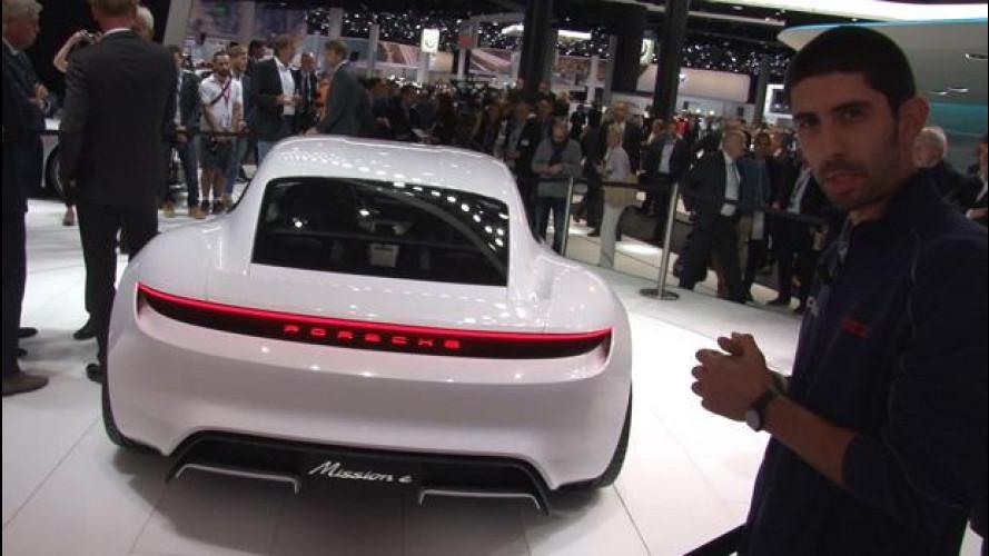 Salone di Francoforte, Porsche, Mission-E l'anti-Tesla tedesca [VIDEO]