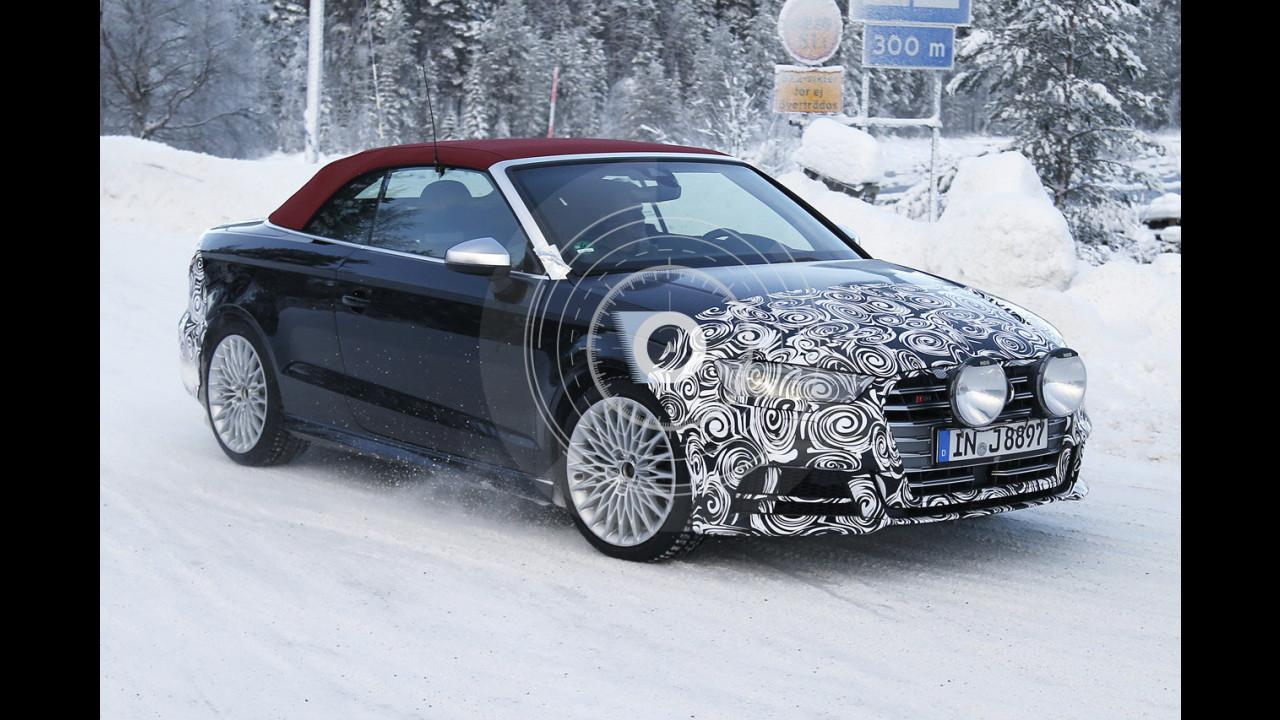 Audi S3 Cabrio, le foto spia