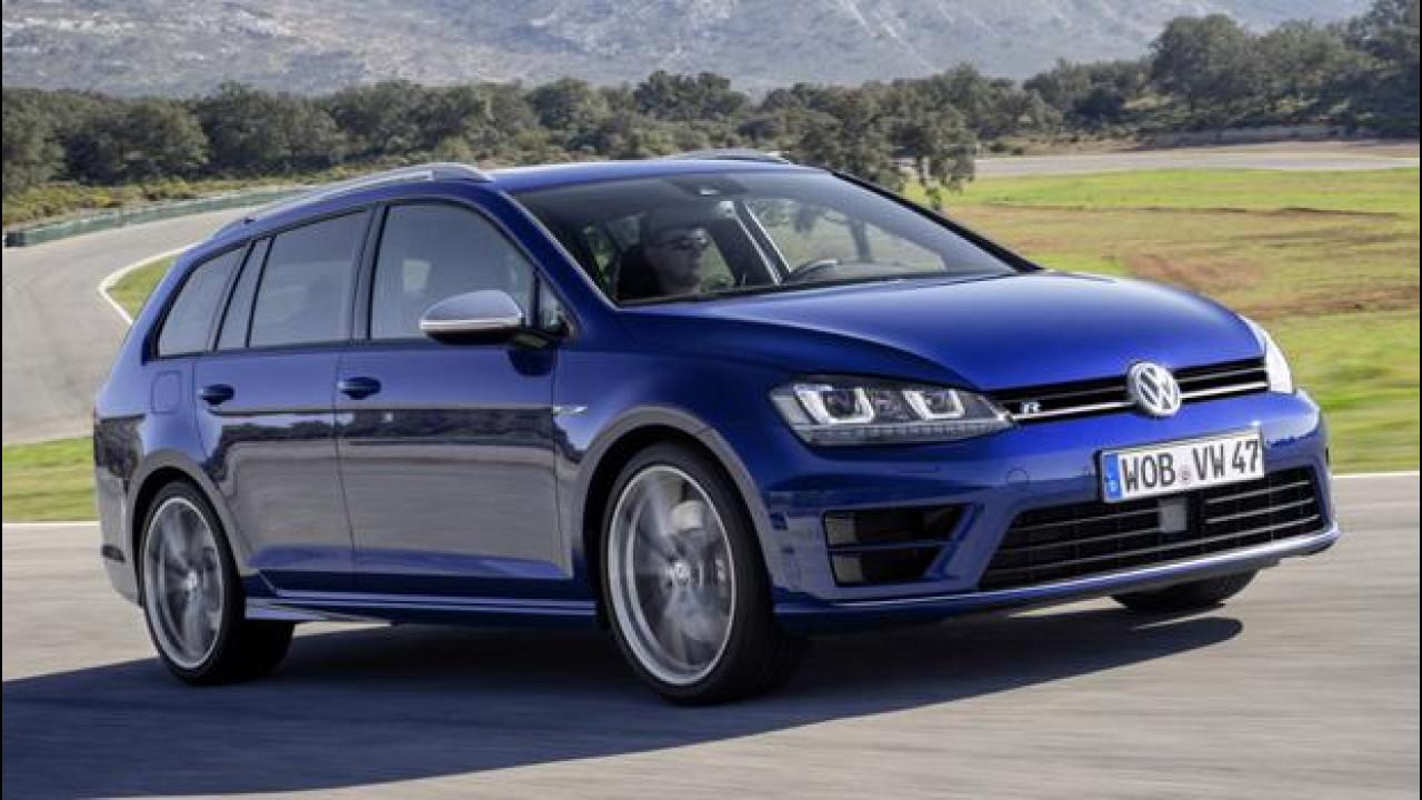 [Copertina] - Volkswagen Golf Variant GTD e R, familiari a tutto gas