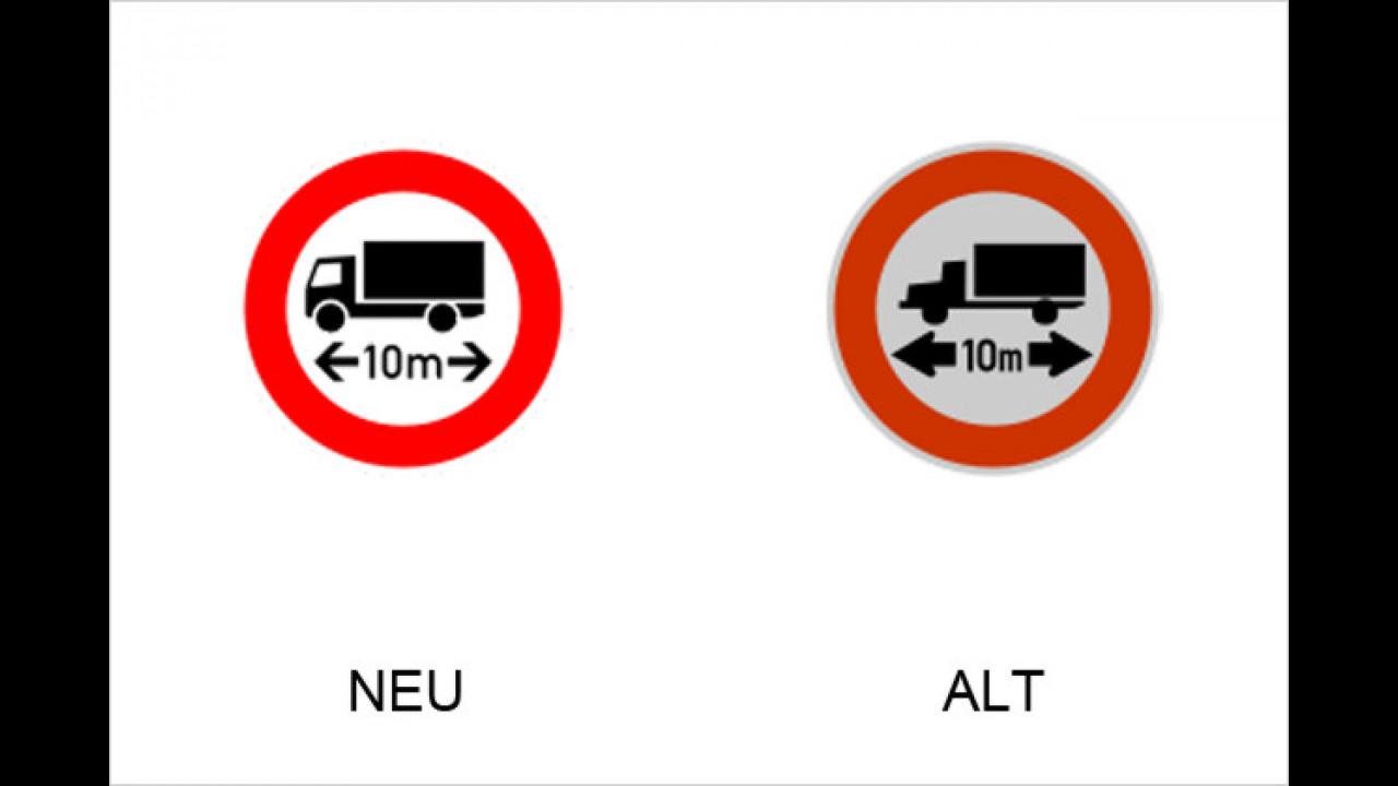 Verbot für Fahrzeuge und Züge über angegebene Länge einschließlich Ladung