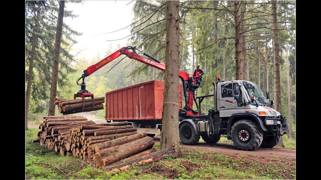 Unimog in der Forstwirtschaft